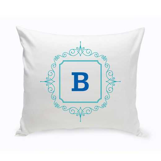 GC1471 BLUE: Personalized Initial Motif ThrowPillow